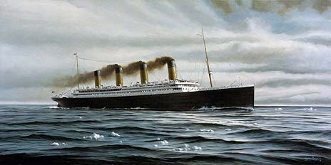 marine art nautical paintings yves berube the titanic